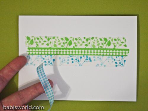 wash tape 2 1 Cartão com Washi Tape
