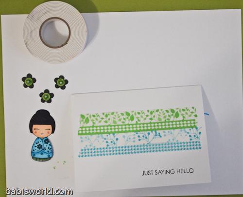 wash tape 4 1 Cartão com Washi Tape
